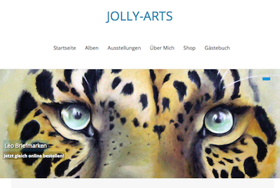 Vorschau der Jolly-Arts Website